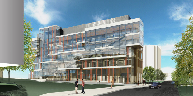 Rendered building photo of Dell Medical School (Credit: Building ATX) Click photo for more.
