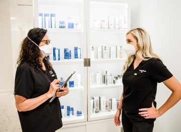 Skincare Consultation - discussing skin rejuvenation using Restylane Kysse